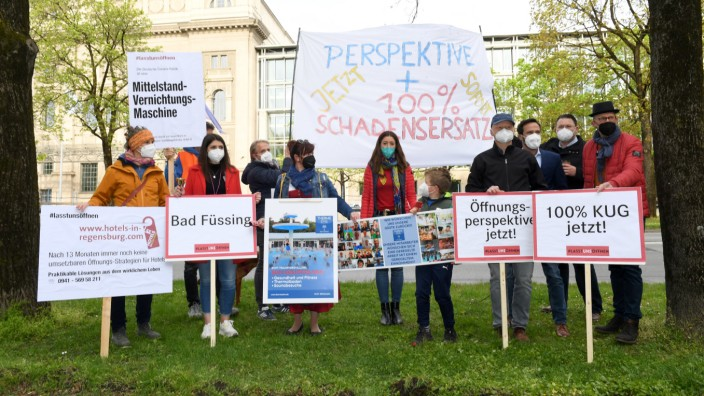 Coronavirus - Protestaktion #LasstunsÖffnen