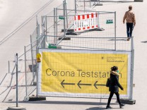 Coronavirus - Teststation auf Oktoberfestgelände