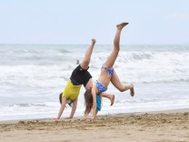 Beaches in Tuscany open after the easing of COVID-19 restrictions, in Castiglione della Pescaia