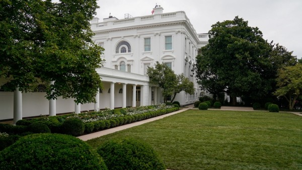 The office of the first lady hosts a press preview of the renewed White House Rose Garden in Washington