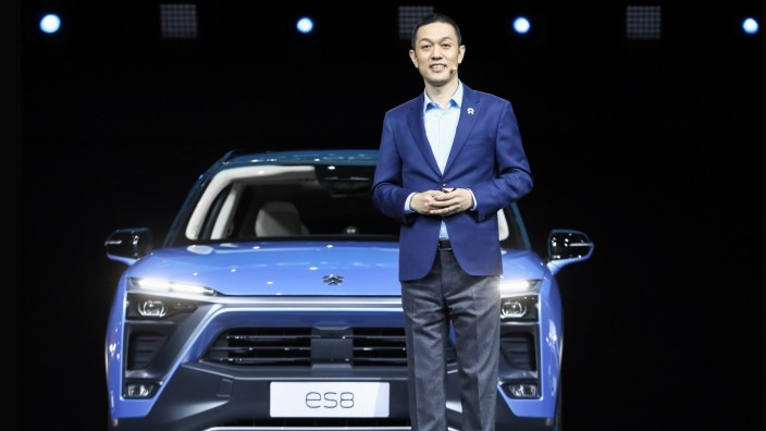 BEIJING, CHINA - DECEMBER 16: William Li Bin, founder and chief executive officer of China s electric vehicle (EV) maker