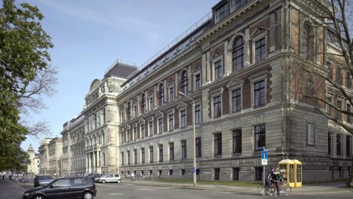 Pressefoto Hochschule für Grafik und Buchkunst HGB Leipzig, Außenansicht © Günther Beutner