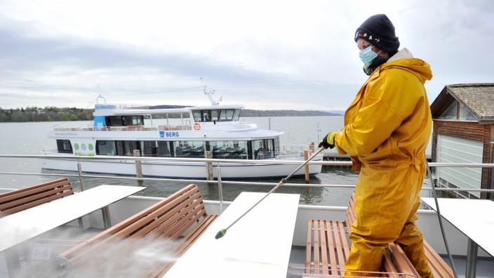 Starnberg: letzte Vorbereitungen bei der Starnberger Seen- und Schiffahrt