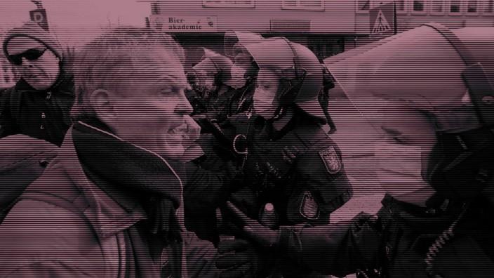 Wueentender Anti Corona Demonstrant