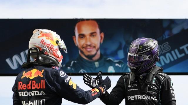Die Formel-Fahrer Max Verstappen und Lewis Hamilton