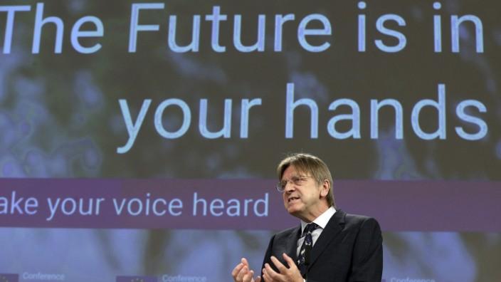Der Liberale Guy Verhofstadt hatte sich für mehr Beteiligung der Zivilgesellschaft eingesetzt.