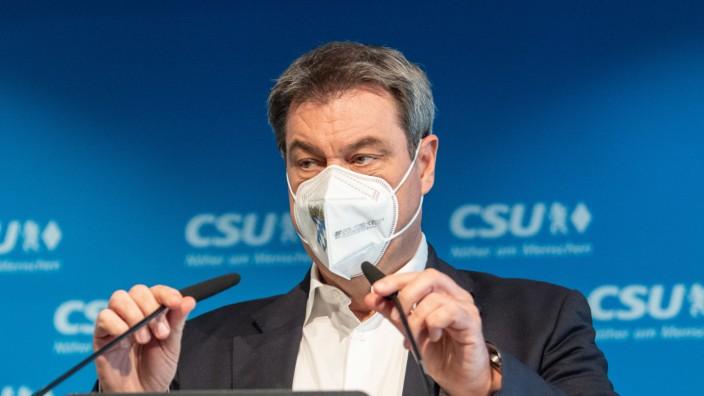Pressekonferenz nach CSU-Vorstandssitzung