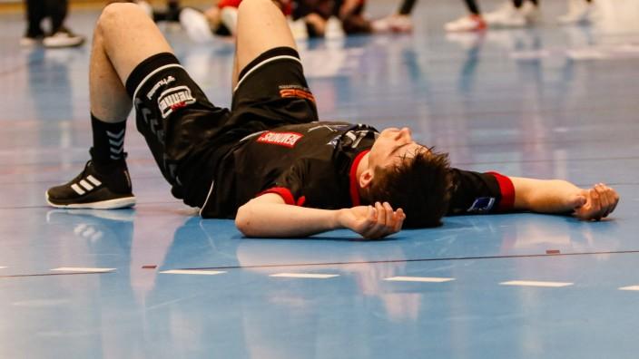 2. Handballbundesliga TuS Fuerstenfeldbruck - TuS N-Luebbecke 24.04.2021 Stephan Seitz (FFB 14) sichtlich enttaeuscht n