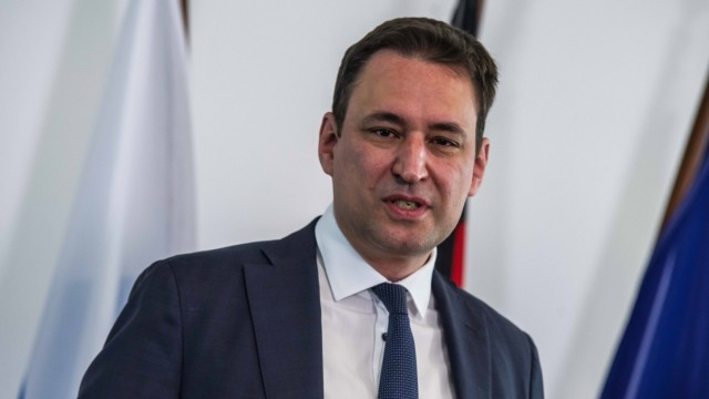 April 26, 2021, Munich, Bavaria, Germany: GEORG EISENREICH Justice Minister of Bavaria. Four years after the creation of