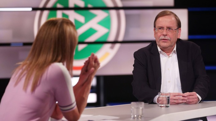 KATRIN MUELLER-HOHENSTEIN, RAINER KOCH DAS AKTUELLE SPORTSTUDIO ZDF MAINZ *** KATRIN MUELLER HOHENSTEIN, RAINER KOCH DA