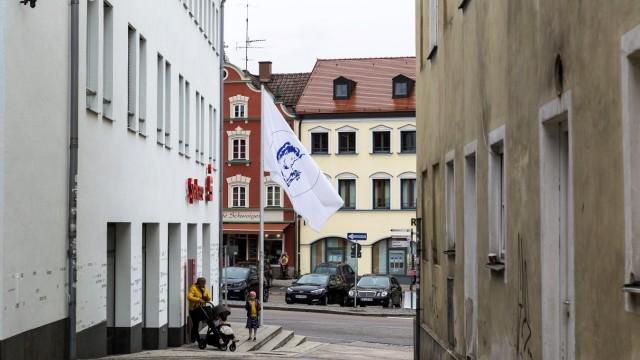 Arkadien Flagge Ebersberg Marktplatz Peter Kees