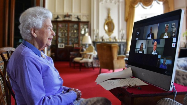 The Queen Speaks To The Royal Life Saving Society