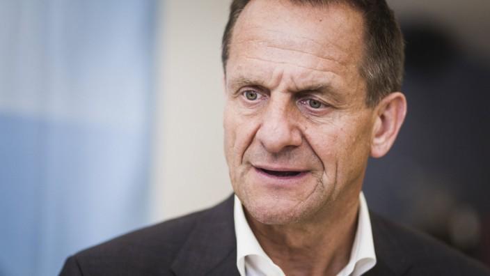 DOSB-Präsident Alfons Hörmann 2017 bei einer Pressekonferenz