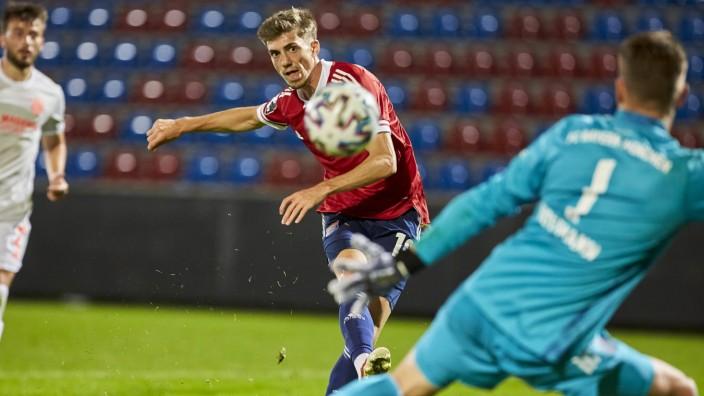 HUFNAGEL Lucas (SpVgg Unterhaching 10); HOFFMANN Ron Thorben (FC Bayern München 1) 2020 DFB Tryout SpVgg Unterhaching vs