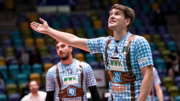 31.10.2020, xkaix, Volleyball 1.Bundesliga, United Volleys Frankfurt - WWK Volleys Herrsching emspor, v.l. Johannes Til; johannes tille herrsching