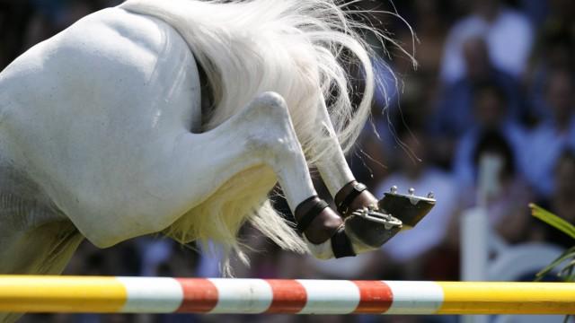 Reiten Weltfest des Pferdesports CHIO in Aachen Soers Springreiten Preis von Nordrhein Westfale; /Springreiten