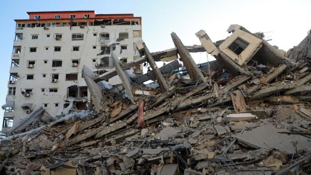 Gaza City nach israelischem Raketenbeschuss