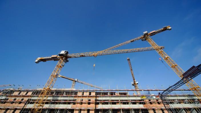 Baustelle am Elisabeth-Castonier-Platz in München, 2020