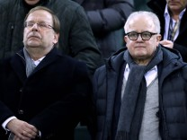 KELLER Fritz DFB Praesident mit Vize Praesident Dr.Rainer KOCH DFB Fussball EM Qualifikation Spiel Deutschland _ Belarus; Koch Keller