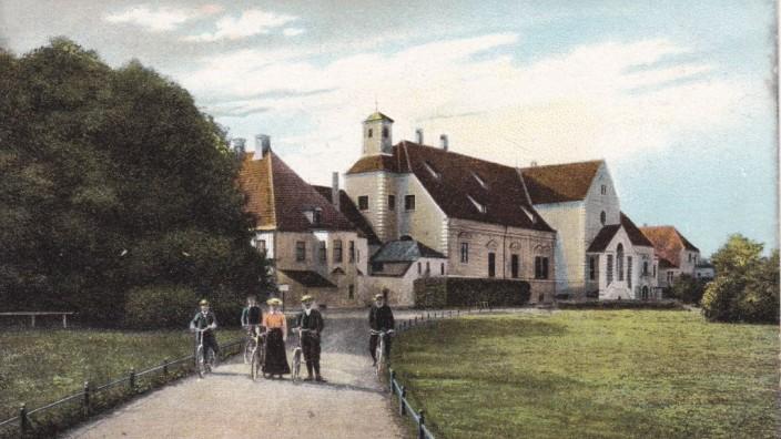 Wirtshausserie 2020: Schlosswirtschaft Oberschleißheim, Altes Schloss Schleißheim: Historische Postkarte