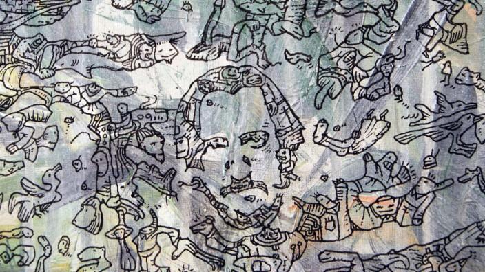 """Ausstellung: """"Meilensteine der Prokrastination""""    von Bernd Rodenhausen Mohr Villa Freimann"""