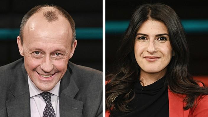 Die CDU-Politiker Friedrich Merz und Serap Güler