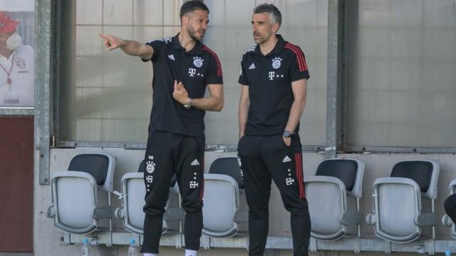 Fußball, 3. Liga, 20210509, FC Bayern München II - SpVgg Unterhaching. Im Bild Trainer von FC Bayern München II Martin