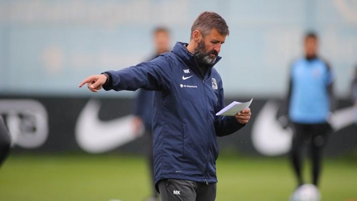 Muenchen, Deutschland 06. Mai 2021: 3.Liga - 2020/2021 - TSV 1860 Muenchen - Training - 06.05.2021 Trainer Michael Köll