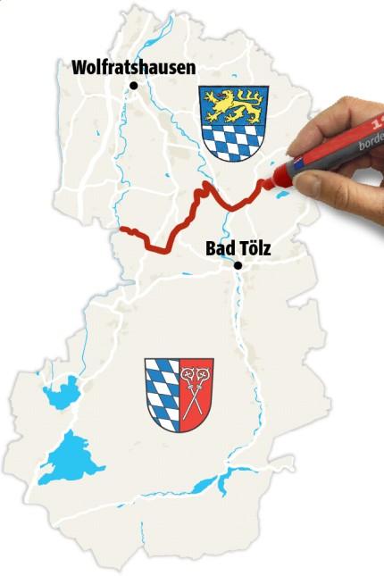 Preview Collage WO Bad Tölz Landkreisgrenze