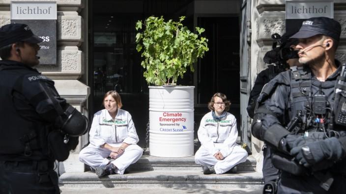 Schweiz - Demonstration zum Klimaschutz