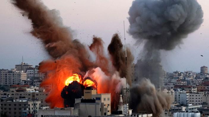 Eskalation im Nahen Osten: Luftangriff auf Gaza am Freitag, dem 14. Mai.
