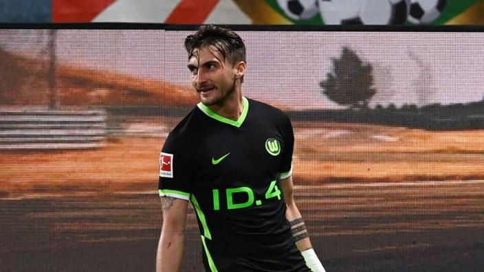 Fussball, Herren, Saison 2020/2021, 1. Bundesliga (33. Spieltag), RB Leipzig - VfL Wolfsburg, Maximilian Philipp (VfL Wo