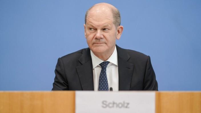 Bundespressekonferenz zum Thema Steuerschaetzung Aktuell,12.5.2021,Berlin,Bundesfinanzminister Olaf Scholz im Portrait