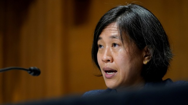 FILE PHOTO: Katherine Tai testifies before Senate Finance Committee in Washington