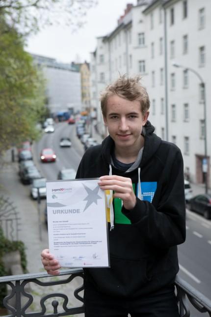 Nicolas vom Scheidt, Preisträger Jugend forscht