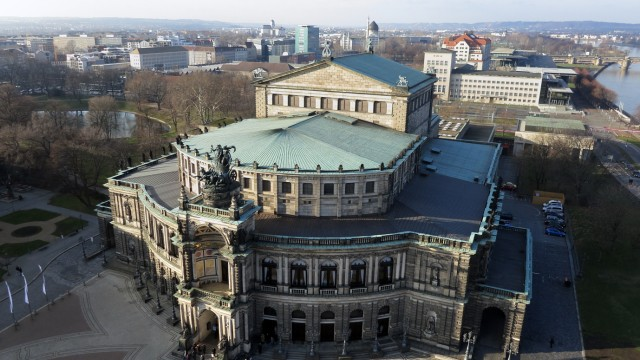 Aerial Views Of Historic Dresden