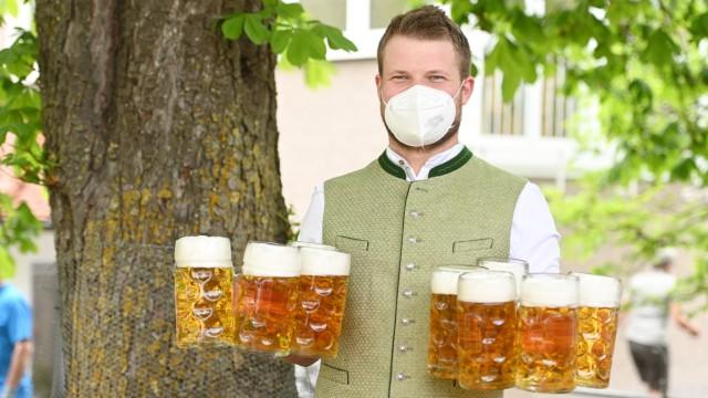 Coronavirus  - Eröffnung der Biergartensaison
