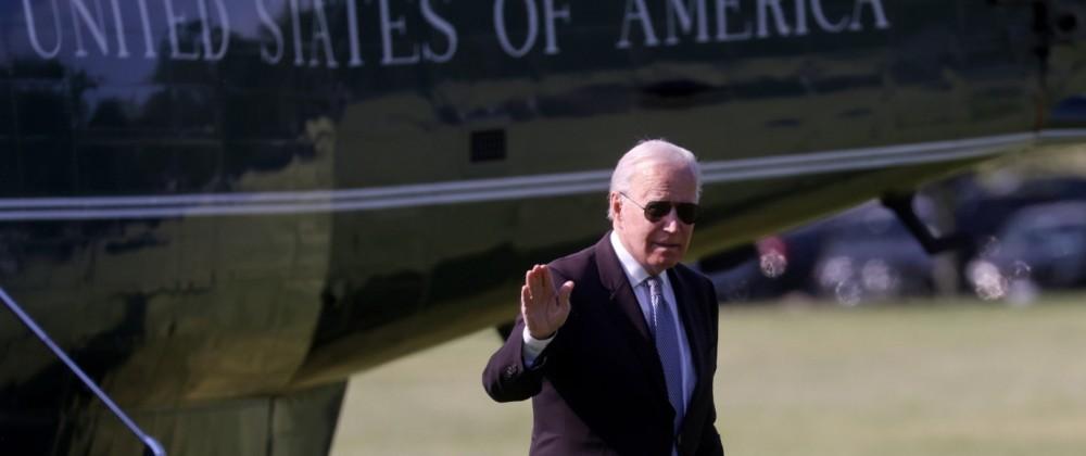 U.S. President Joe Biden arrives at the White House