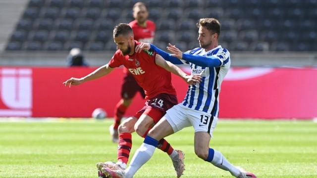 Soccer, men, 1. Bundesliga, season 2020/21, (33rd matchday), Hertha BSC - 1. FC Cologne, from left Dominick Drexler (1. FC