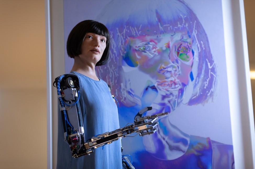 BESTPIX - 'AI-DA: The World's First Robot Artist' At The Design Museum - Press View
