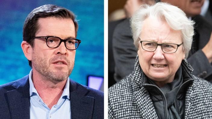 Karl Theodor zu Guttenberg (CSU) und Annette Schavan (CDU) sind beide wegen Plagiatsaffären zurückgetreten.