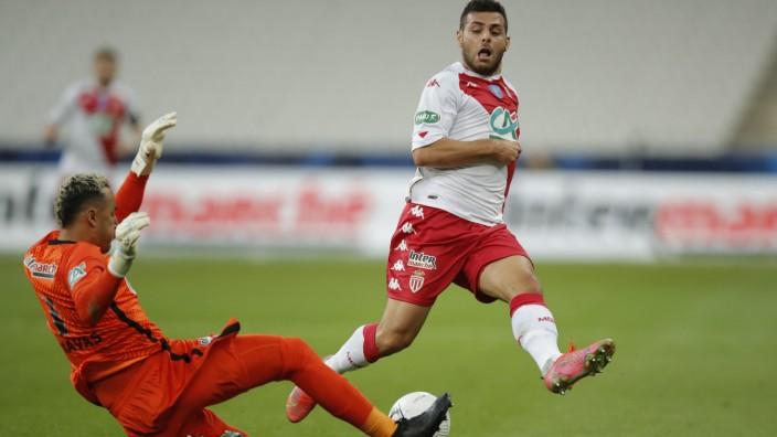 Kevin Volland in der Nationalelf: Die Szene zu Beginn, als Kevin Volland fast das 1:0 für Monaco erzielte. Der Deutsche verlor am Ende mit Monaco das Pokalfinale gegen PSG.