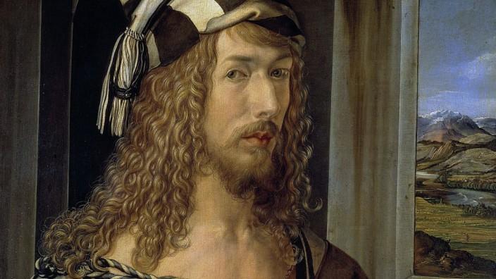 Albrecht Durer, Self-Portrait with Gloves Self-Portrait at age 28 . Albrecht Dürer 1471 1528 German painter, printmak