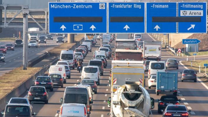 Volle Autobahn