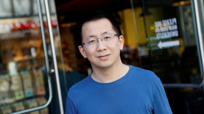 FILE PHOTO: Zhang Yiming, founder and global CEO of ByteDance, poses in Palo Alto, California