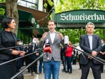 Wien 19.05.2021, Schweizerhaus, AUT, Bundesregierung, Die Regierungsspitze ist am Oeffnungstag, im Zuge der gelockerten