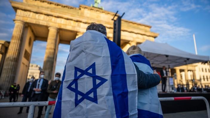 Demonstration für Solidarität mit Israel
