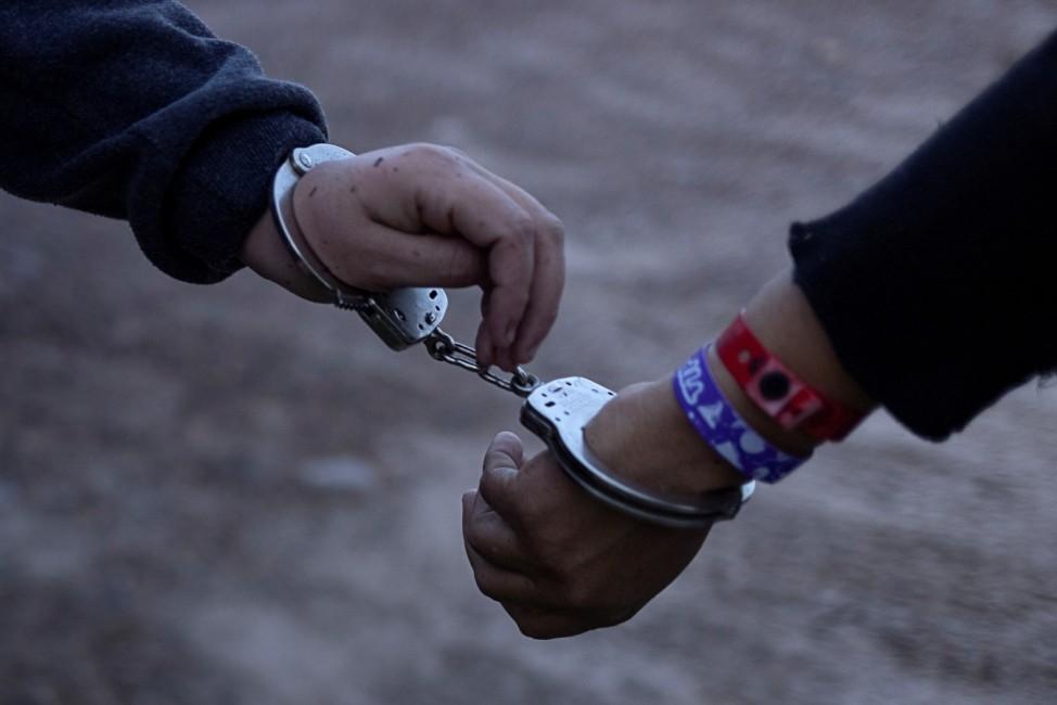 Migrants detained in La Joya,Texas