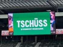 Fussball 1. Bundesliga Saison 2020/2021 34. Spieltag SV Werder Bremen - Borussia Moenchengladbach 15.05.2021 Theodor Ge