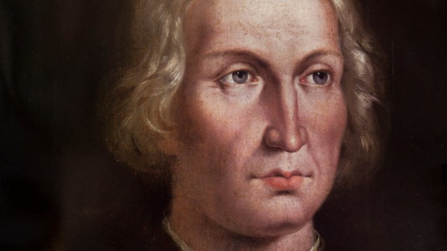 Madrid, Spain - Dec 5th, 2011: Christopher Columbus portrait at Naval Museum of Madrid. (Juan García Aunión)